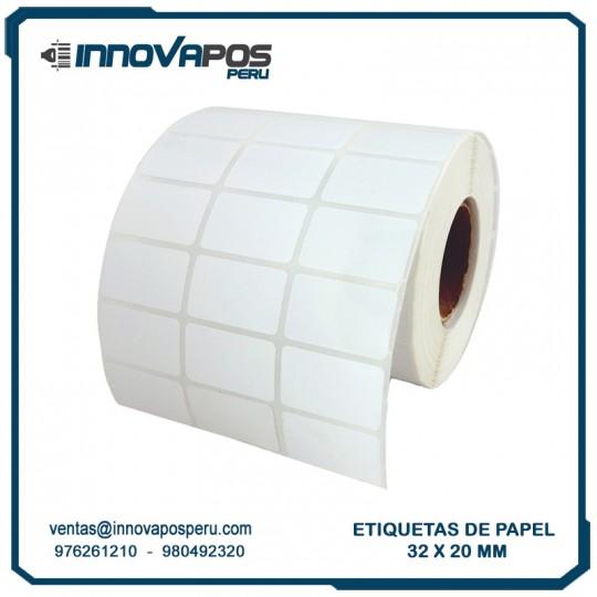 ETIQUETA DE PAPEL 32x20MM